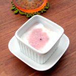 ふんわりピンクの甘酒ヨーグルト